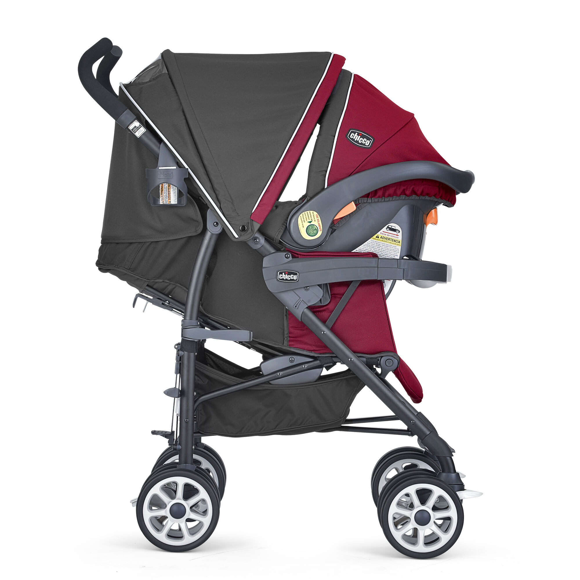 7b019602e ... The Chicco Neuvo Travel system granita features an adjustable,  removable canopy with peek-a ...