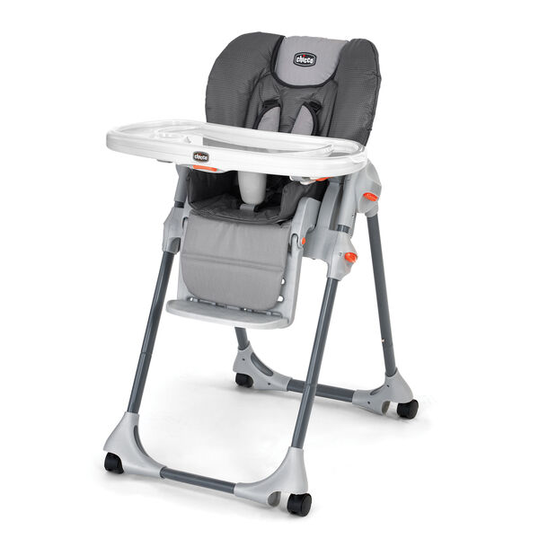 Chicco Polly Highchair Graphica - multitone, textured gray style