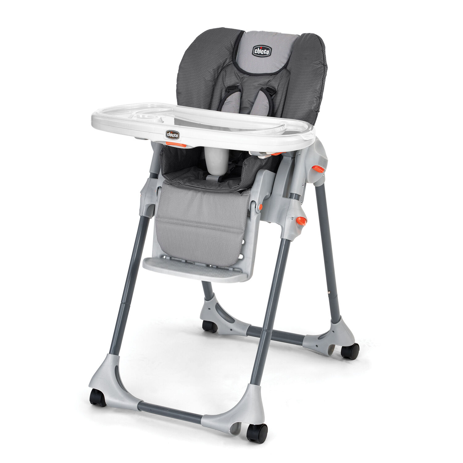 Chicco Polly Highchair Graphica   Multitone, Textured Gray Style ...