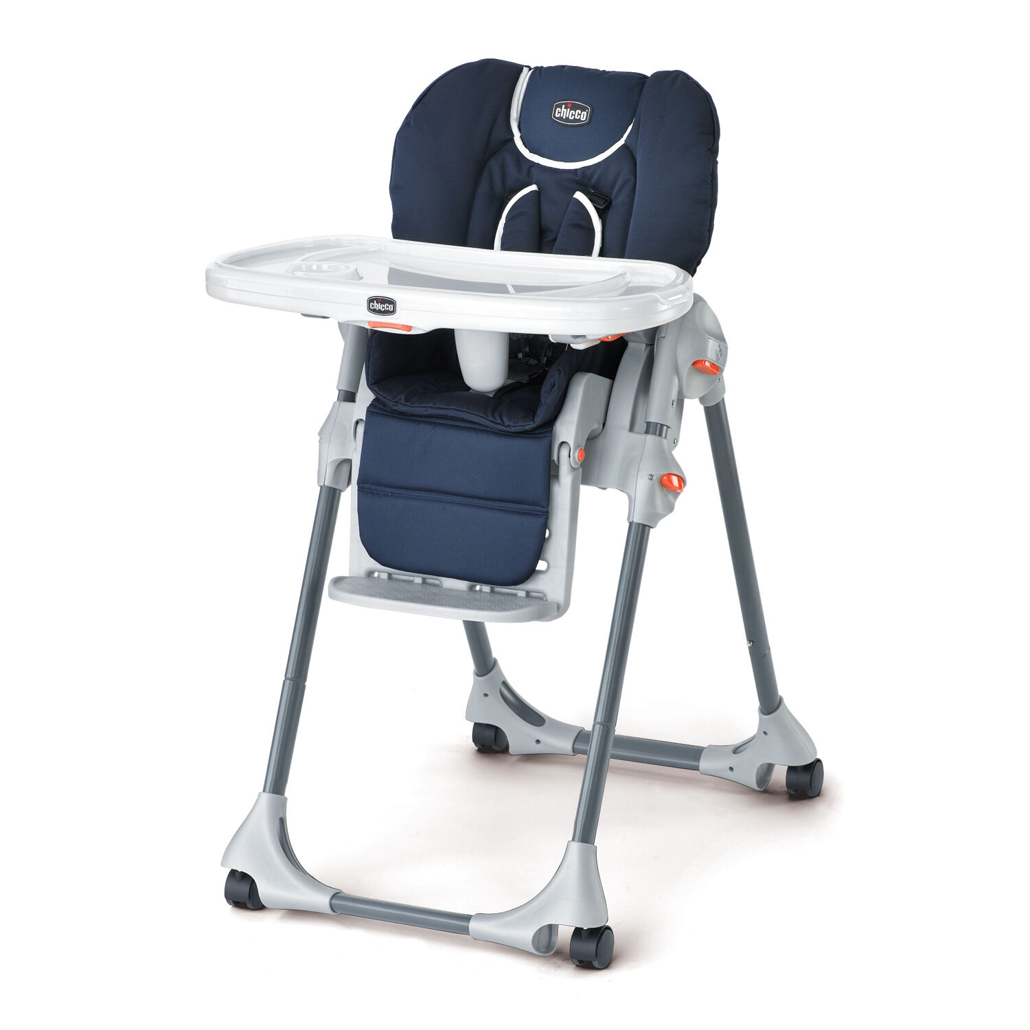 Chicco Polly Highchair Pegaso   Navy Blue With White Trim ...