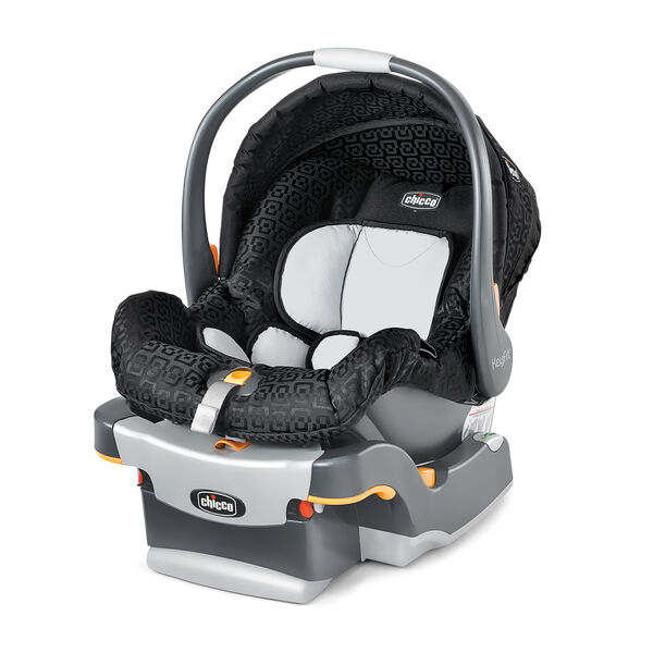 Chicco KeyFit Infant Car Seat And Base In Black Ombra Fashion With Geometric Rounded Square Fabric
