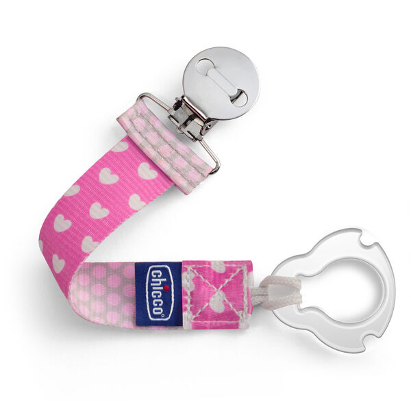 Universal Two-in-One Fashion Pacifier Clip - Pink in