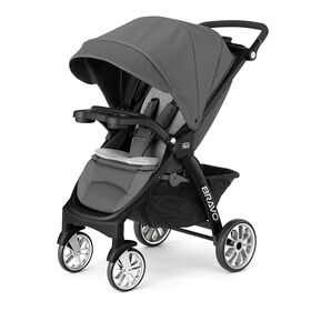 Chicco Bravo LE Stroller in Coal Gray and Black