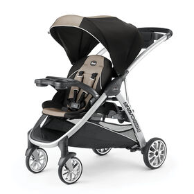 BravoFor2 Standing/Sitting Double Stroller in Champagne