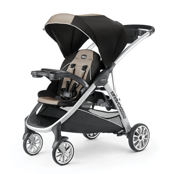 BravoFor2 Standing/Sitting Double Stroller - Champagne in Champagne