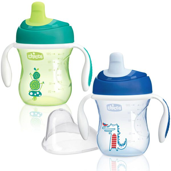 Chicco NaturalFit Semi-soft Spout Trainer Cup - Boy
