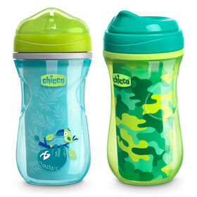 Insulated Rim Trainer Cup 9oz 12m+ (2pk) in Green/Teal in
