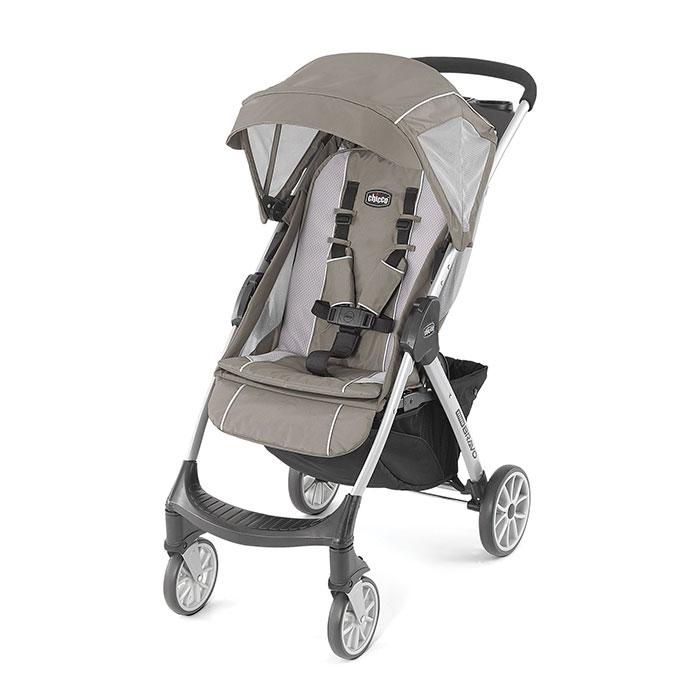 Chicco Mini Bravo Lightweight Stroller in Stone