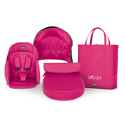 Urban Stroller Pink Color Accessory Kit