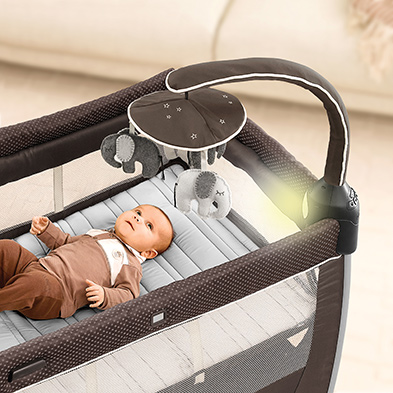 Bassinet and Electronic Toy Bar