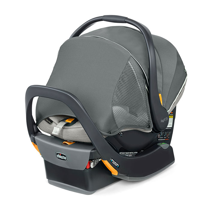 Chicco KeyFit 35 Zip ClearTex Car Seat in Ash