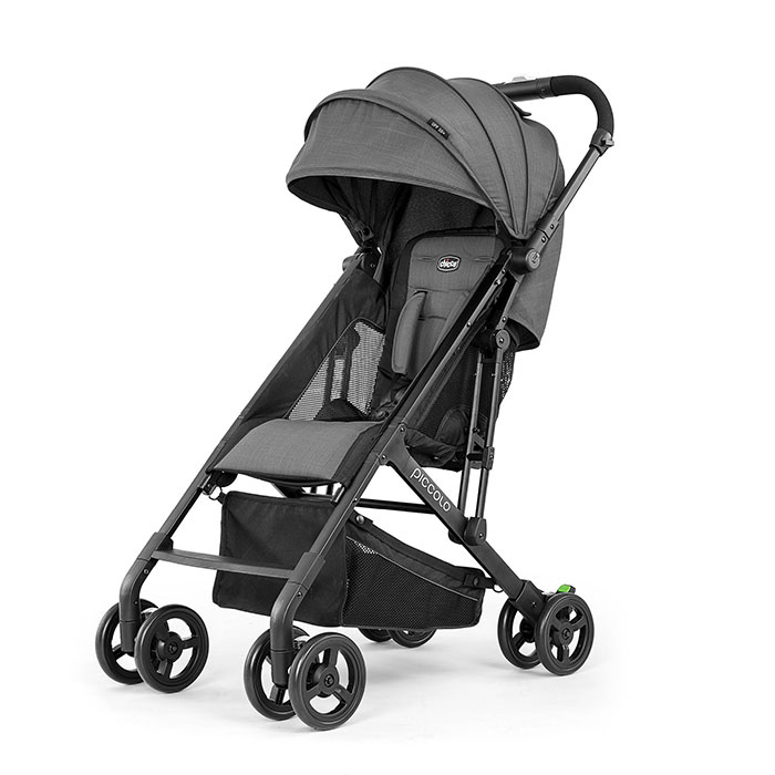 Chicco Piccolo Lightweight Stroller in Carbon