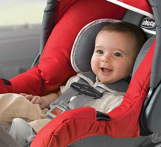 baby in chicco infant car seat