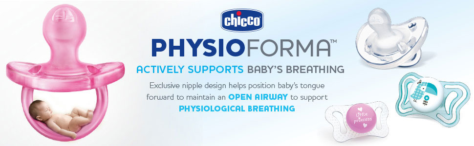 Chicco PhysioForma Pacifier actively supports breathing