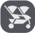 Chicco Cortina Together Stroller Icon
