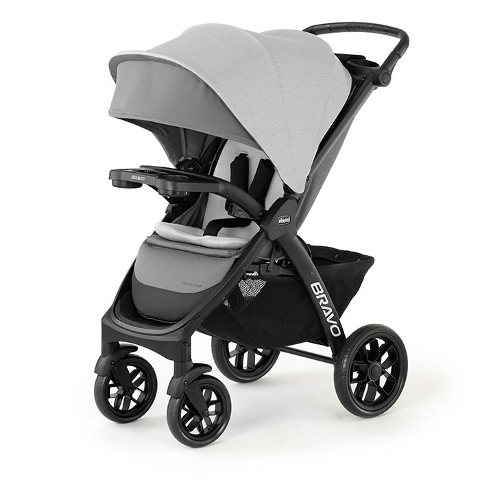 Chicco Bravo LE Full Size Stroller in Driftwood