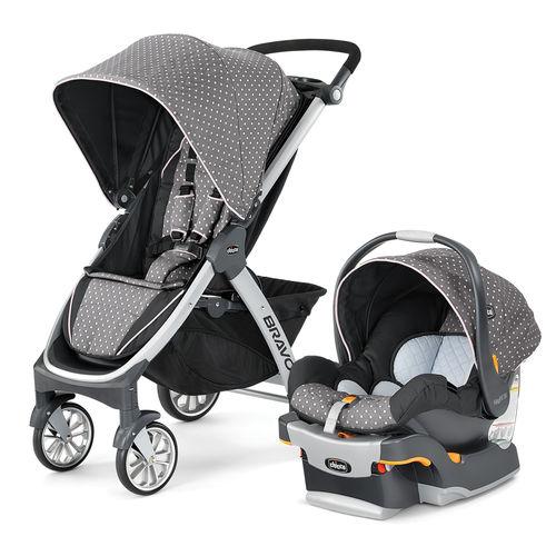 Bravo Trio System Stroller and Infant Car Seat - Lilla