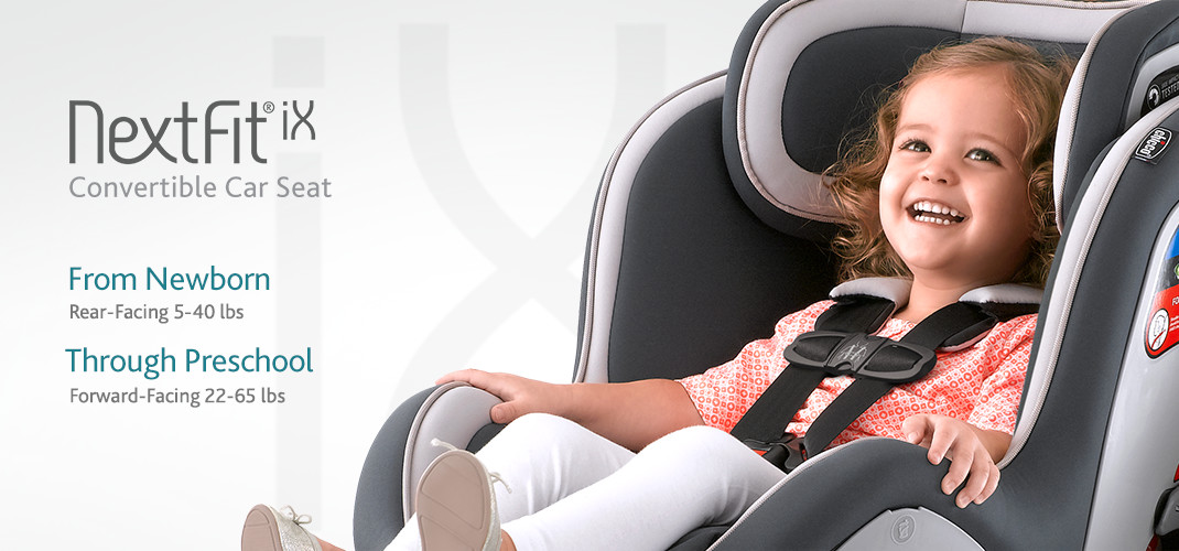 From Newborn through Preschool years, the NextFit iX convertible carseat is the easiest to install simply, accurately, securely.