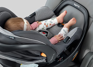 Infant car seat with more legroom