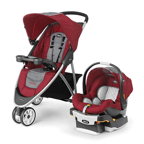 Cranberry Viaro Travel System