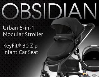 Obsidian Urban 6-in-1 Modular Stroller and KeyFit Zip Car Seat