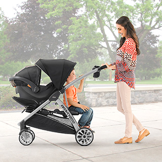 Bravofor2 Standing Amp Sitting Double Stroller Iron Chicco