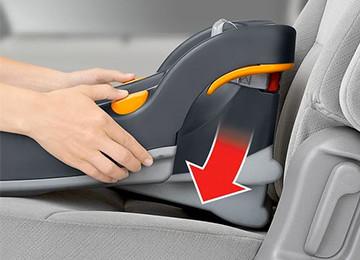 ReclineSure car seat leveling foot