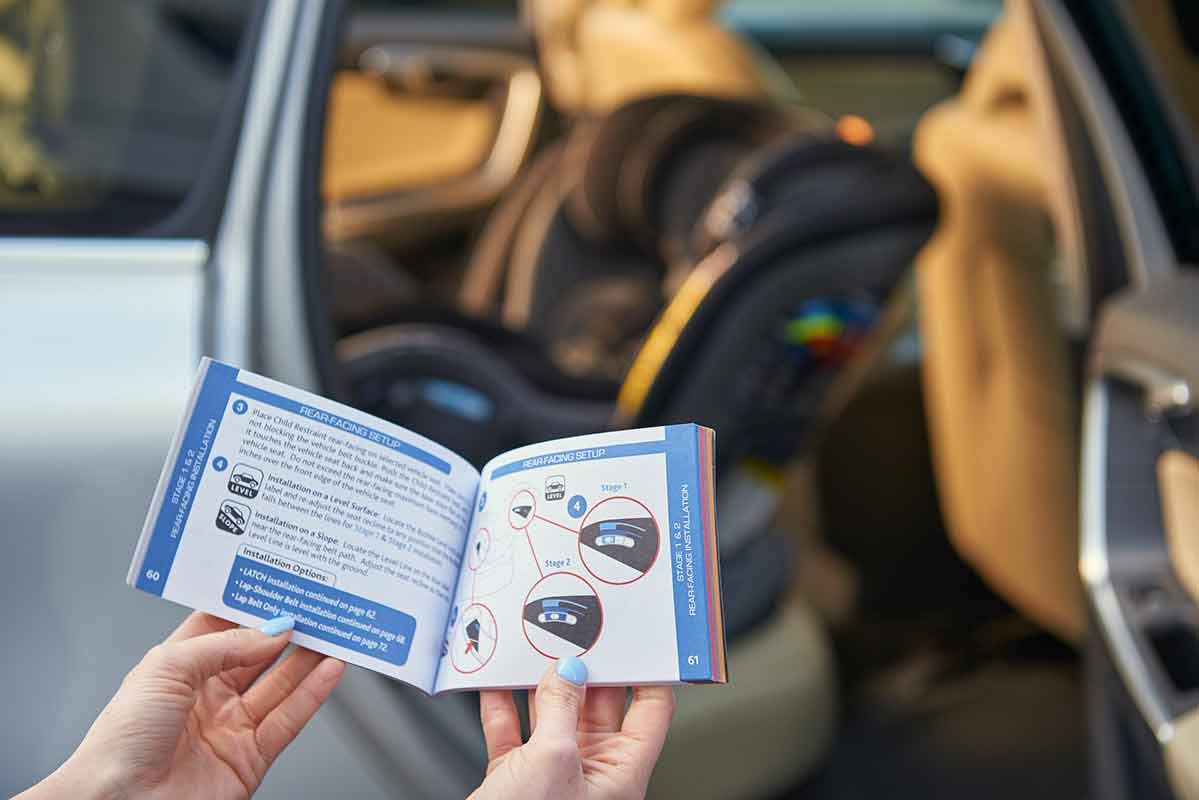 Reading the Chicco Car Seat Instruction Manual
