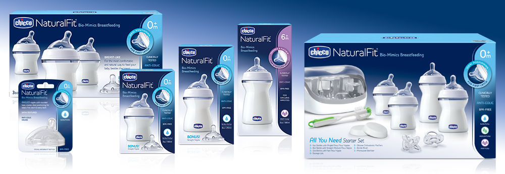 Chicco NaturalFit Baby Bottles and Baby Feeding System