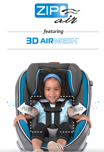 ZipAir featuring 3D AirMesh