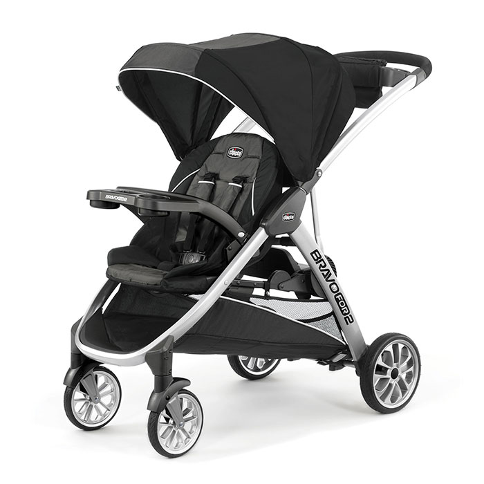 Chicco BravoFor2 Double Stroller in Iron