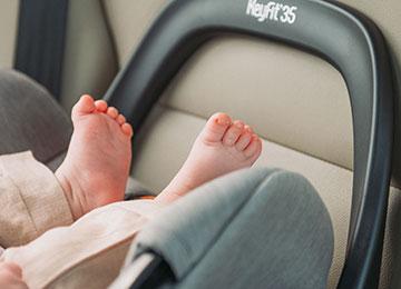 Infant car seat rebound bar
