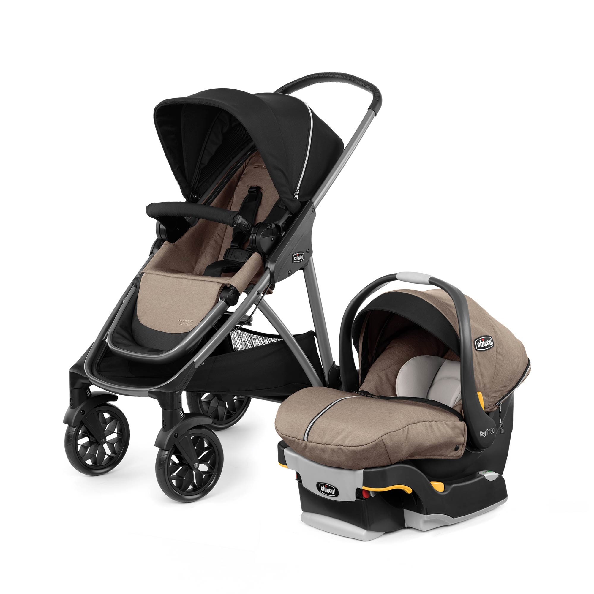 Corso Modular Travel System in Hazelwood Fashion | Chicco