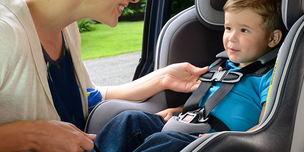 Buckling your child in a car seat
