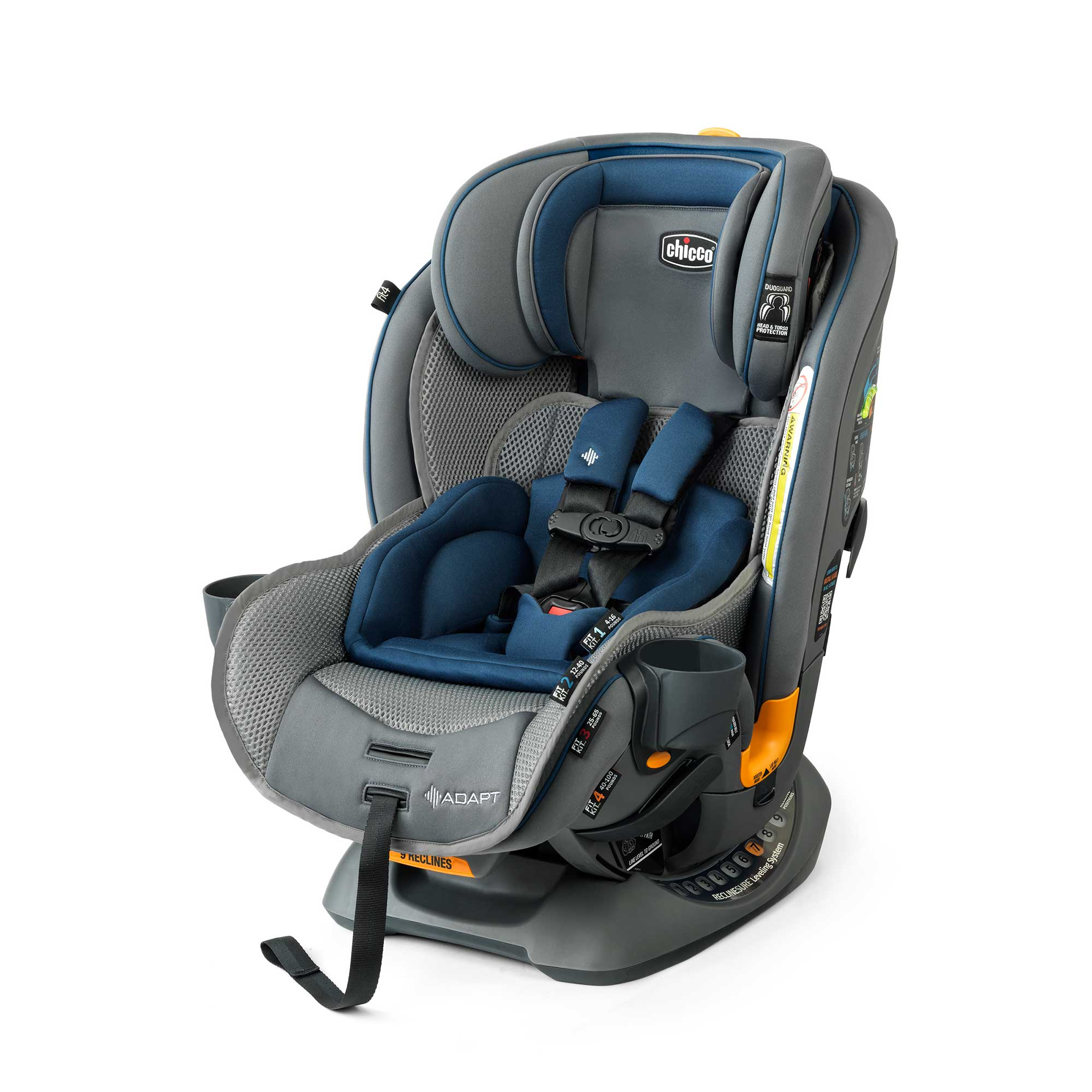 Chicco Fit4 Adapt 4-in-1 Convertible Car Seat - Vapor | Chicco