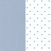 Lullaby Playard Fitted Sheet, 2-Pack in Blue Dot